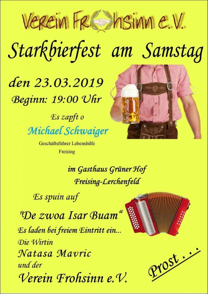 Starkbierfest und Josefifeier – Verein \